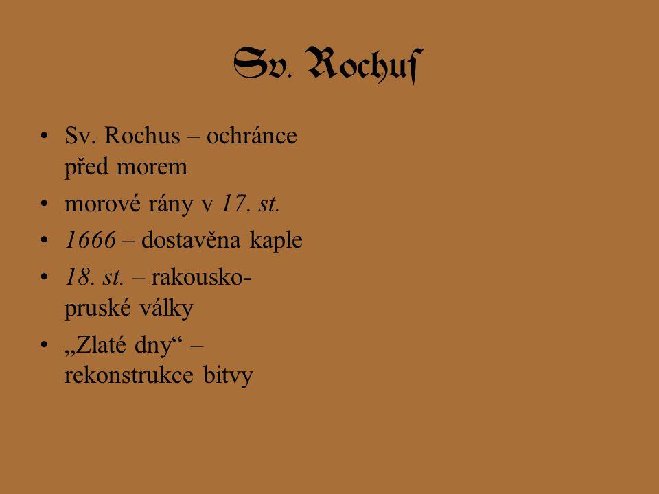 Sv. Rochus Sv. Rochus – ochránce před morem morové rány v 17. st.