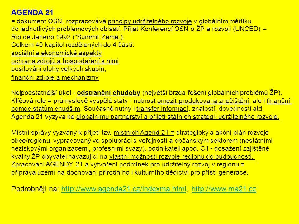 Podrobněji na: http://www.agenda21.cz/indexma.html, http://www.ma21.cz