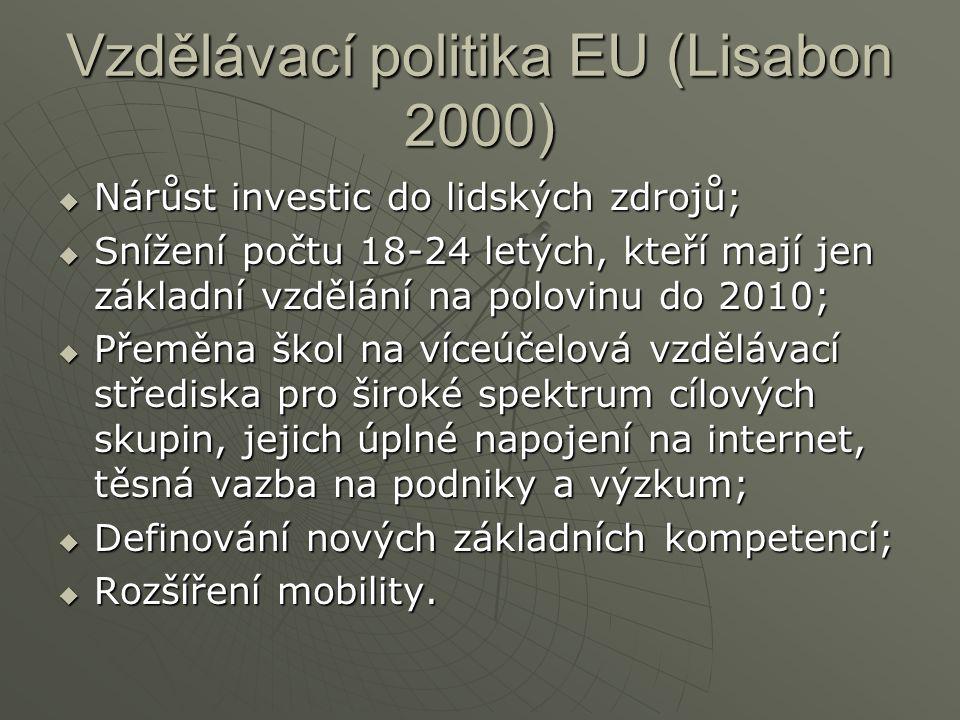 Vzdělávací politika EU (Lisabon 2000)