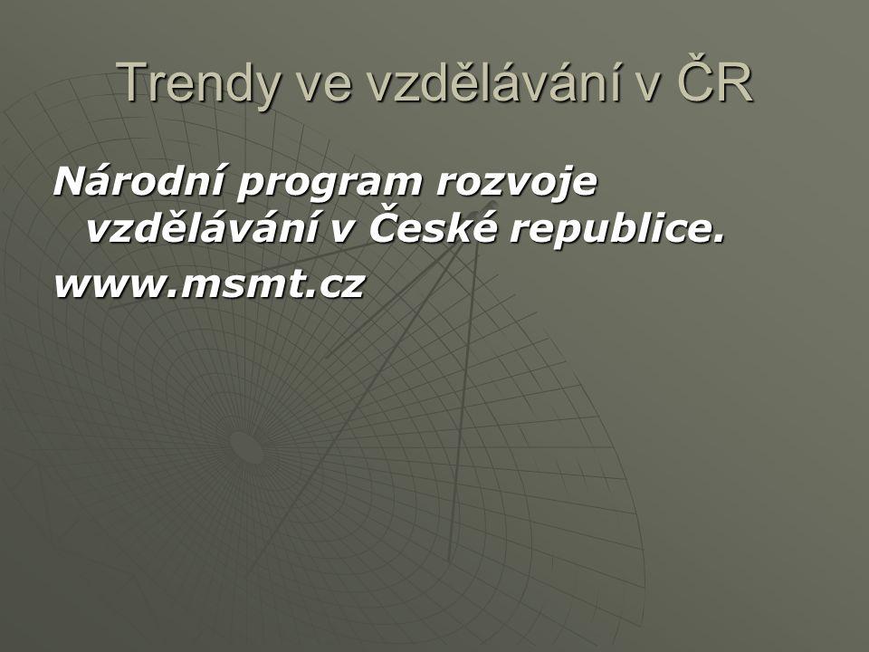Trendy ve vzdělávání v ČR