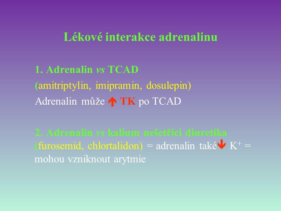 Lékové interakce adrenalinu