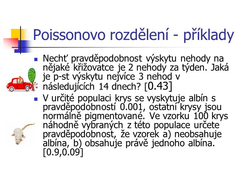 Poissonovo rozdělení - příklady