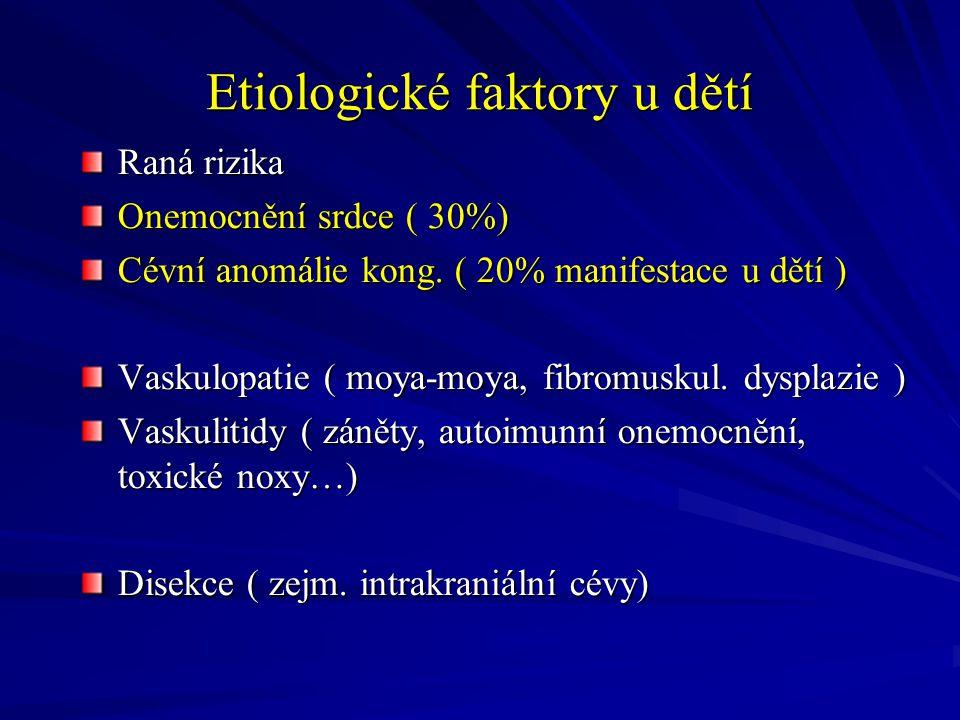 Etiologické faktory u dětí