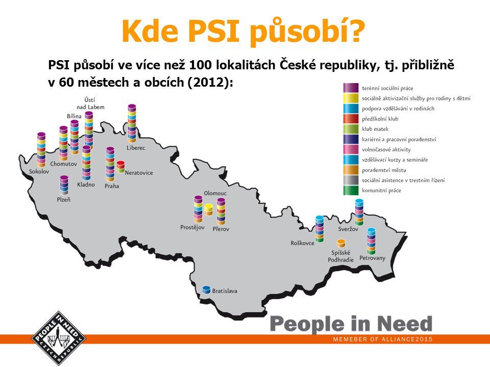 Kde PSI působí. PSI působí ve více než 100 lokalitách České republiky, tj.