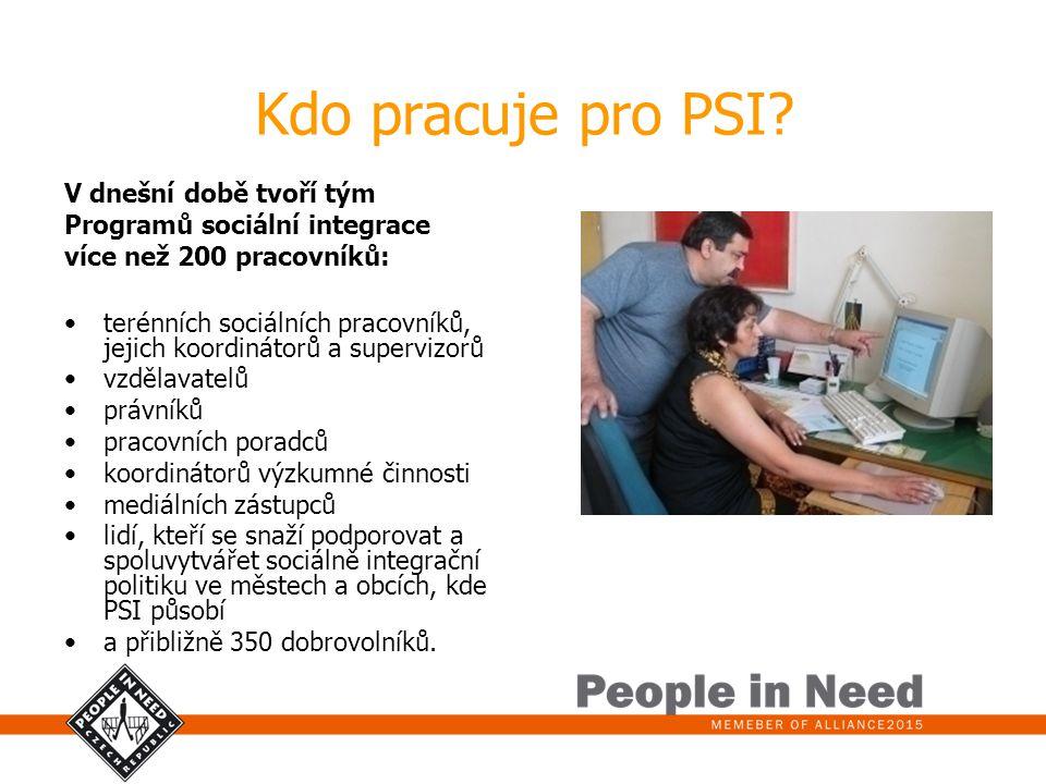 Kdo pracuje pro PSI V dnešní době tvoří tým