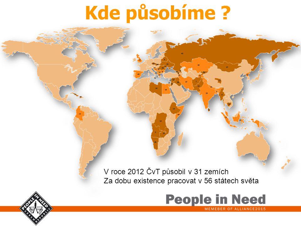 Kde působíme V roce 2012 ČvT působil v 31 zemích
