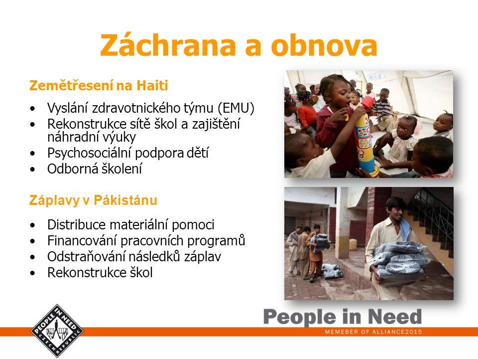 Záchrana a obnova Zemětřesení na Haiti