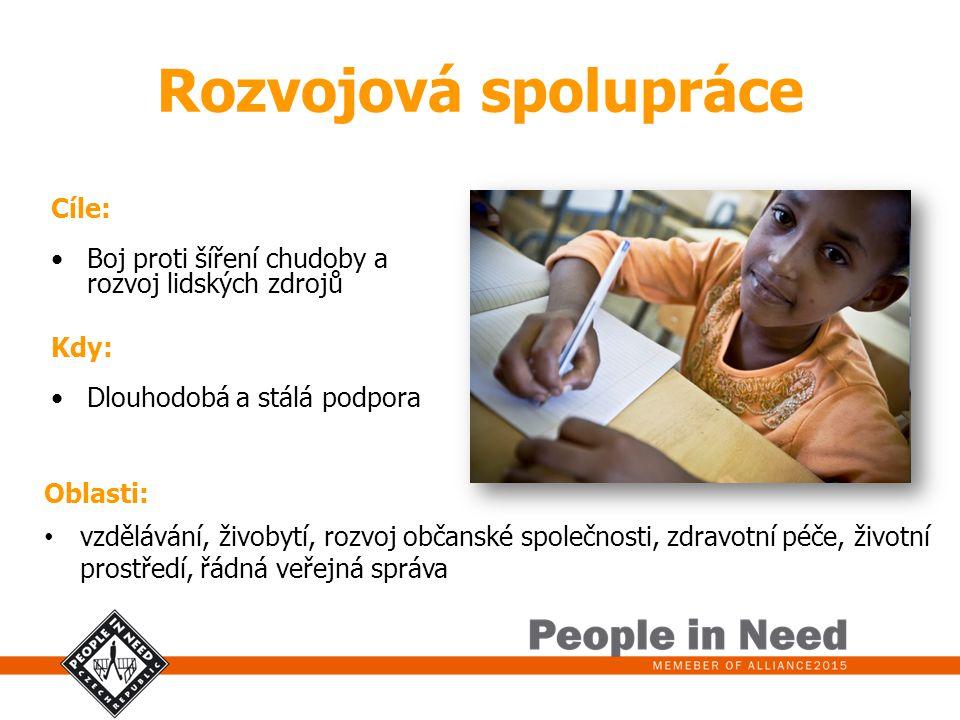 Rozvojová spolupráce Cíle: