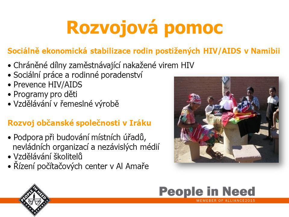Rozvojová pomoc Chráněné dílny zaměstnávající nakažené virem HIV