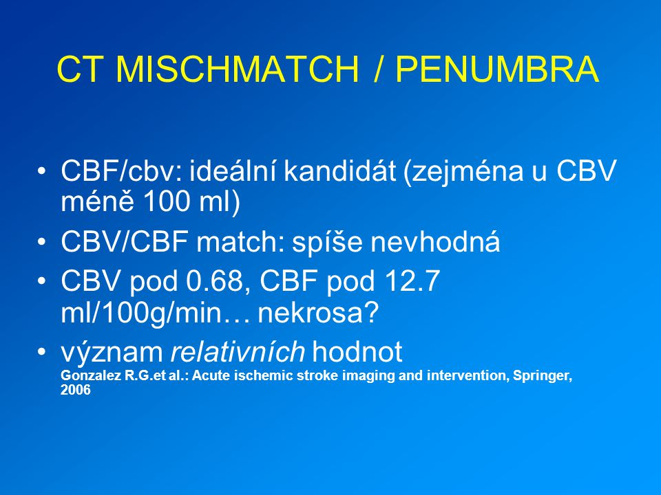 CT MISCHMATCH / PENUMBRA