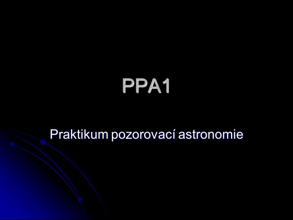 Praktikum pozorovací astronomie