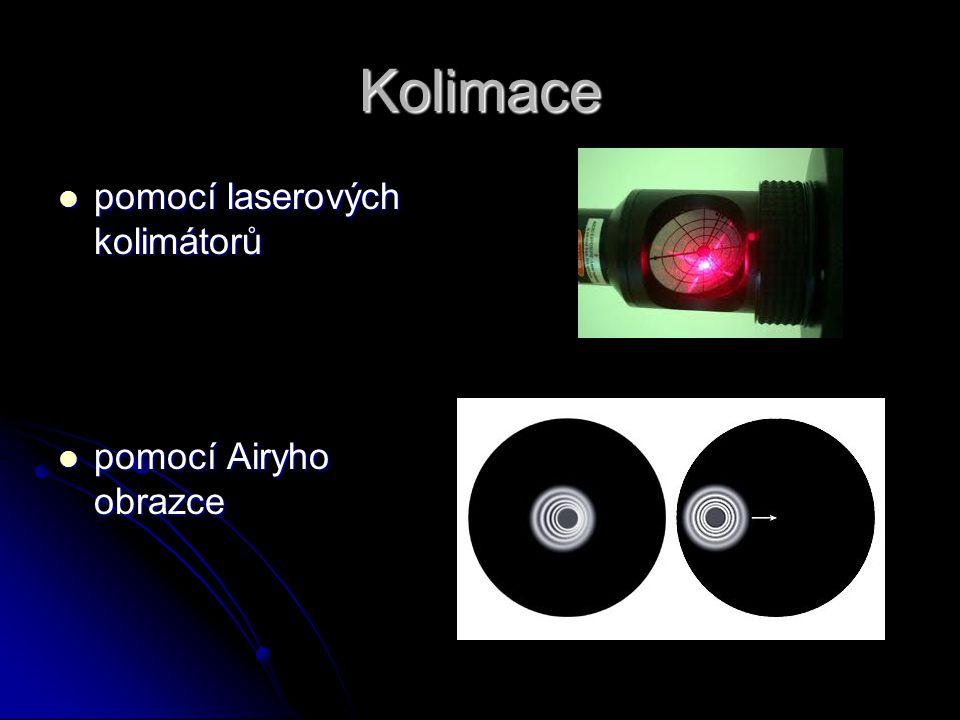 Kolimace pomocí laserových kolimátorů pomocí Airyho obrazce