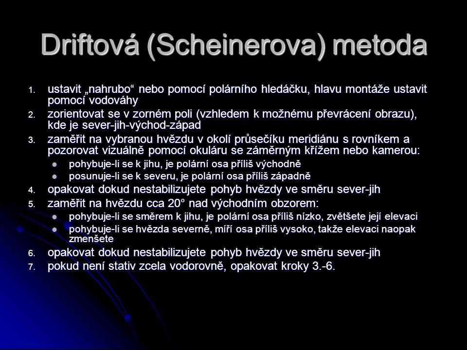 Driftová (Scheinerova) metoda
