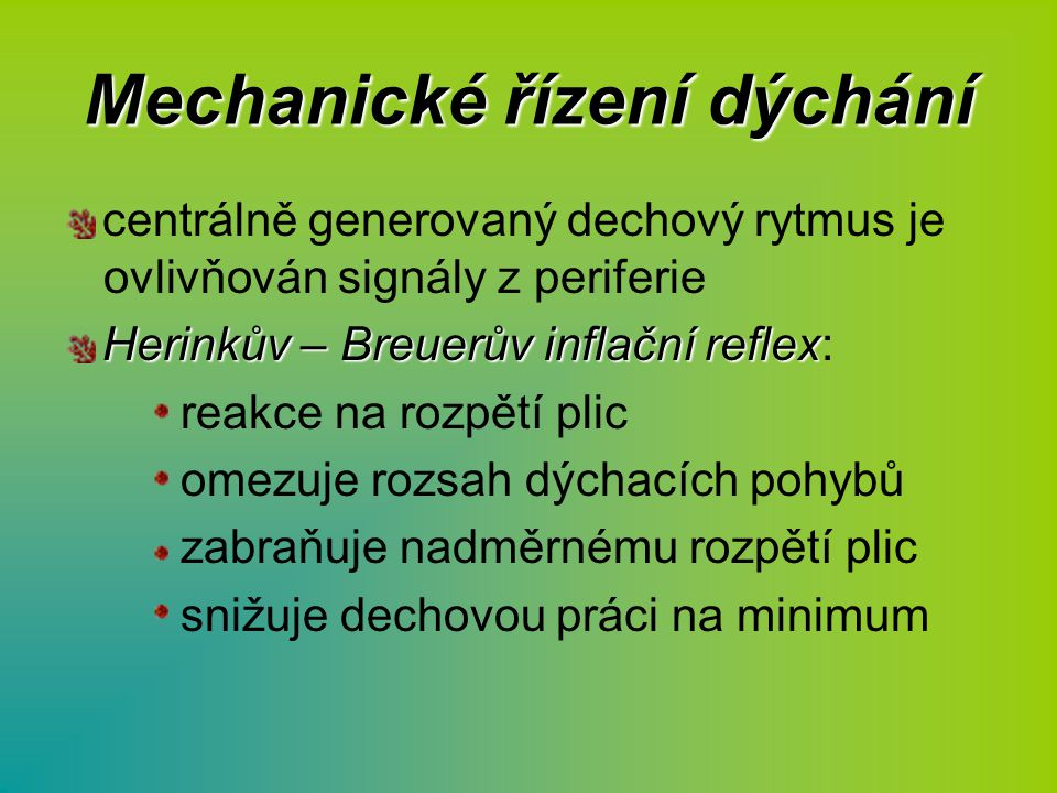 Mechanické řízení dýchání