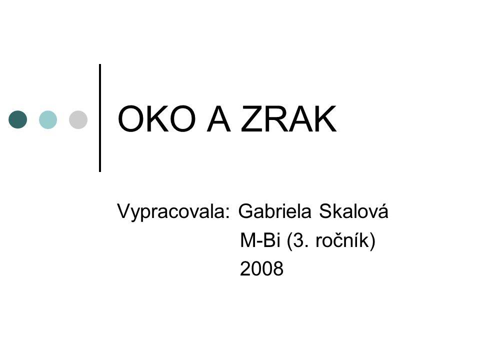 Vypracovala: Gabriela Skalová M-Bi (3. ročník) 2008