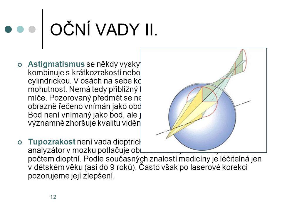 OČNÍ VADY II.