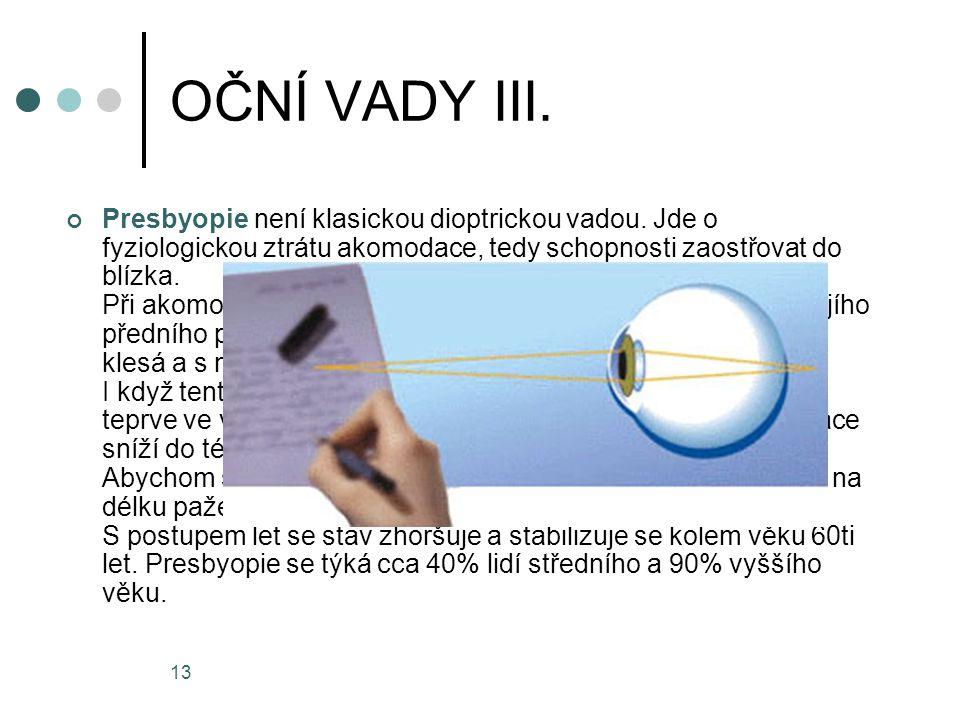 OČNÍ VADY III.