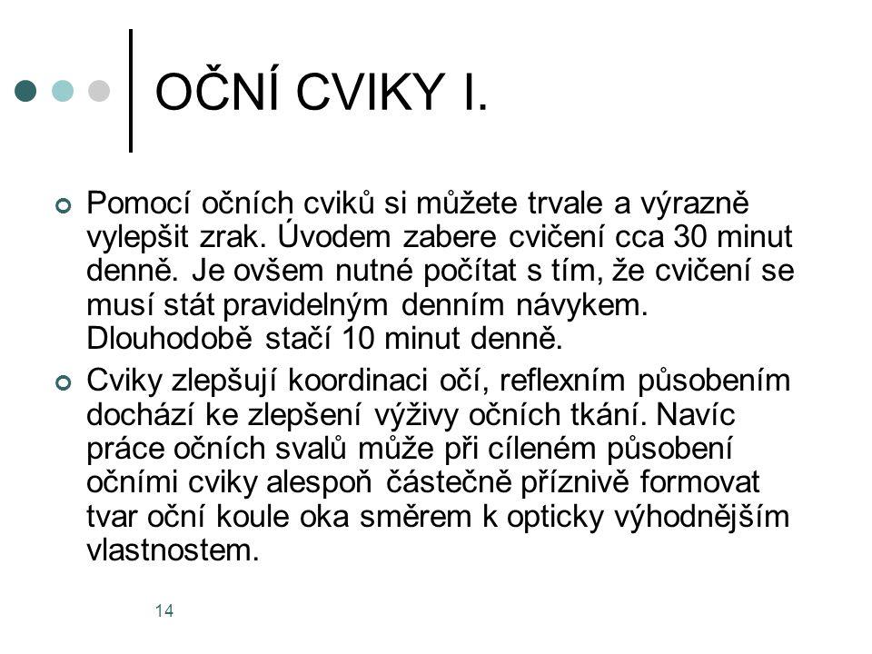 OČNÍ CVIKY I.