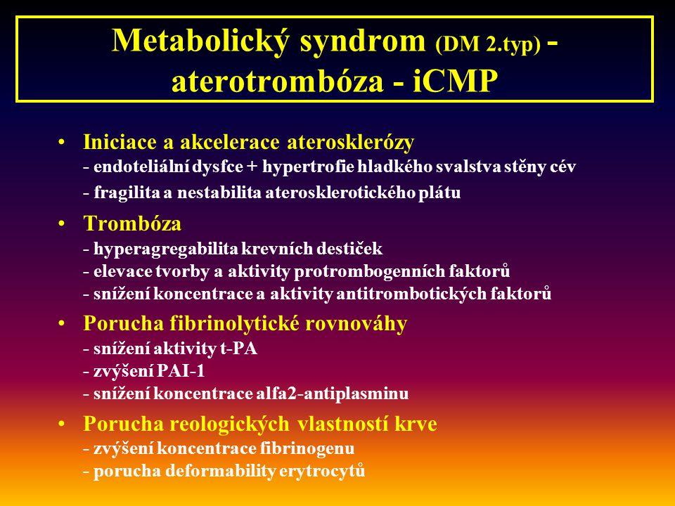 Metabolický syndrom (DM 2.typ) - aterotrombóza - iCMP