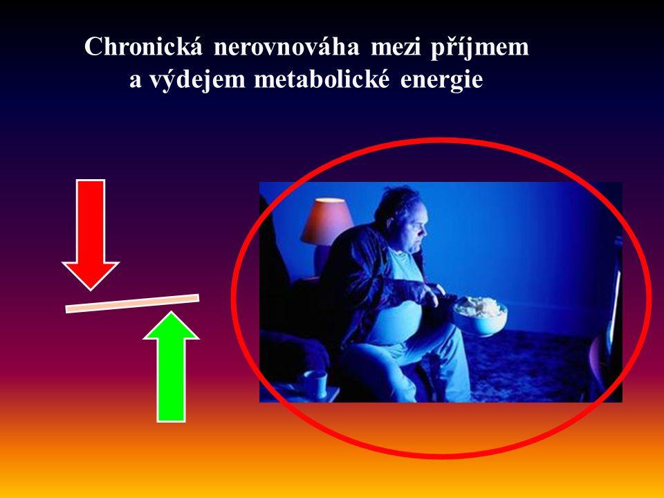 Chronická nerovnováha mezi příjmem a výdejem metabolické energie