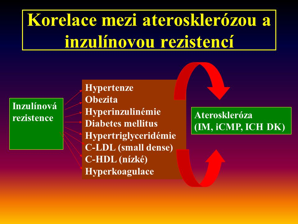 Korelace mezi aterosklerózou a inzulínovou rezistencí
