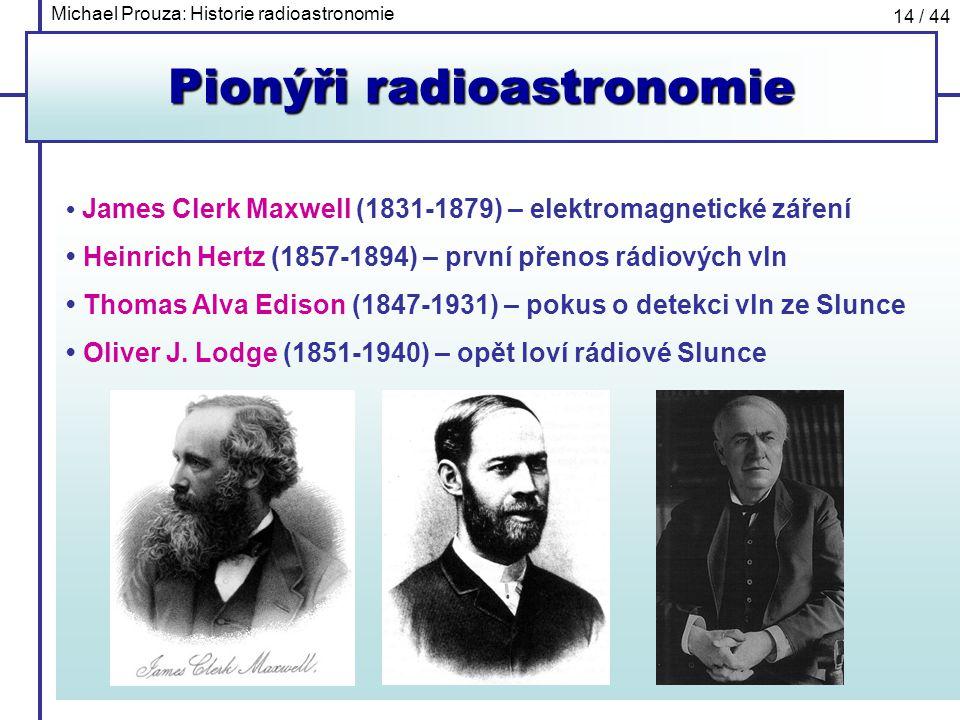 Pionýři radioastronomie