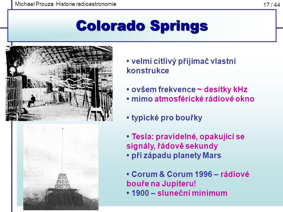 Colorado Springs • velmi citlivý přijímač vlastní konstrukce