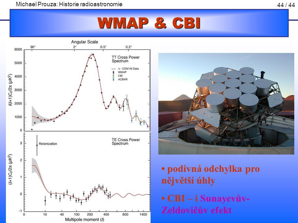 WMAP & CBI • podivná odchylka pro nějvětší úhly