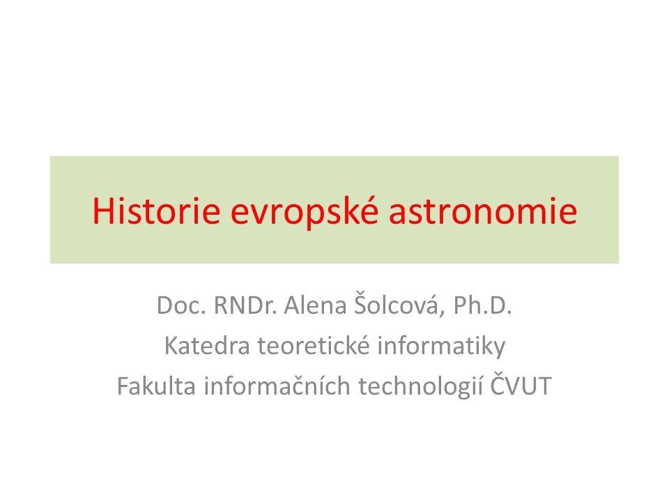 Historie evropské astronomie