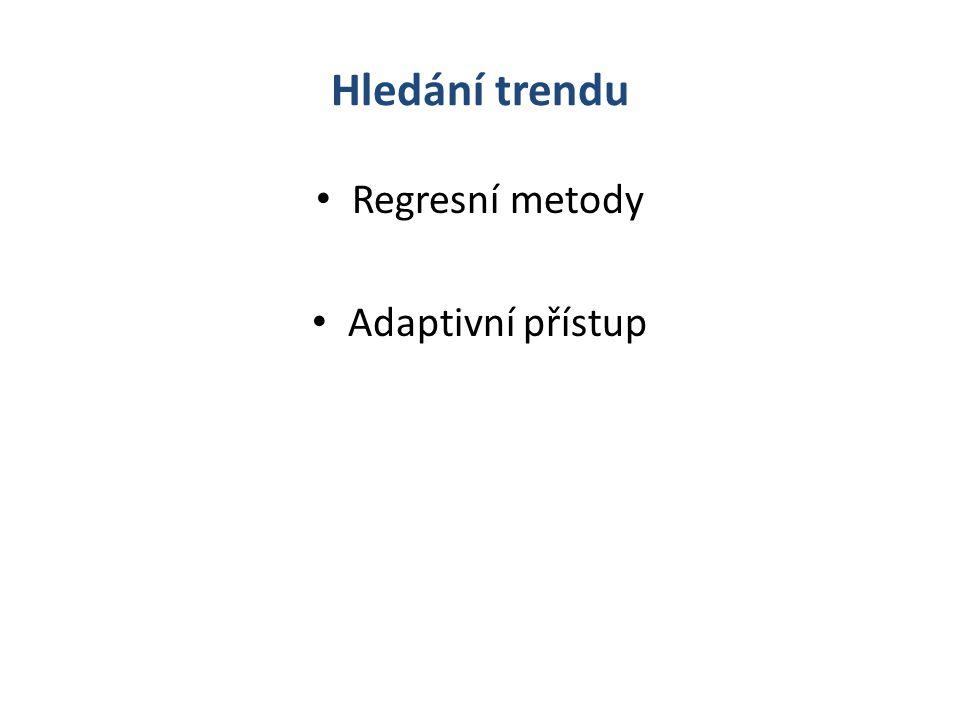 Hledání trendu Regresní metody Adaptivní přístup