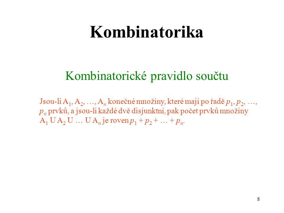 Kombinatorické pravidlo součtu