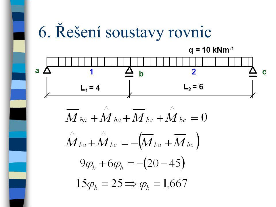 6. Řešení soustavy rovnic
