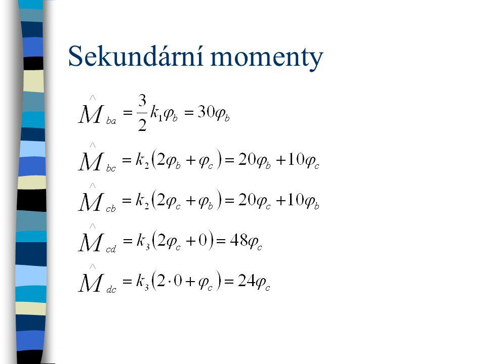 Sekundární momenty