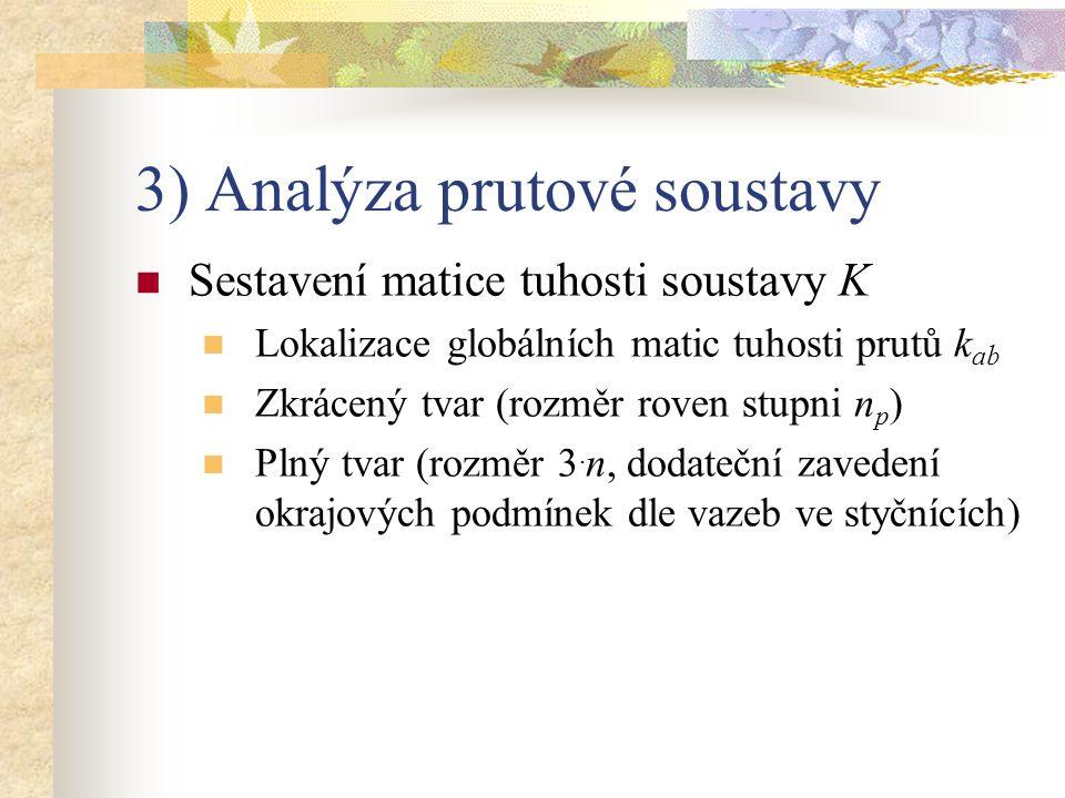 3) Analýza prutové soustavy