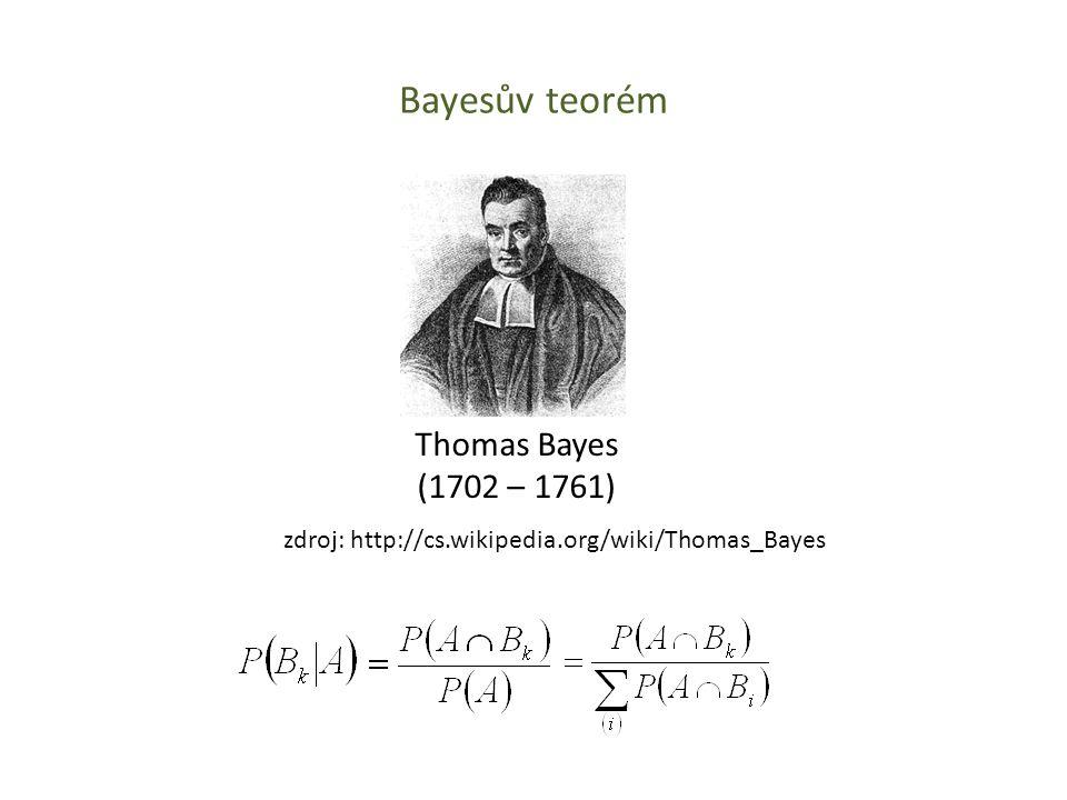 Bayesův teorém Thomas Bayes (1702 – 1761)