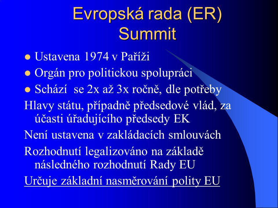 Evropská rada (ER) Summit