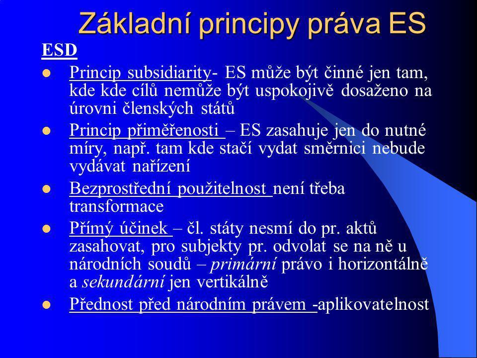 Základní principy práva ES