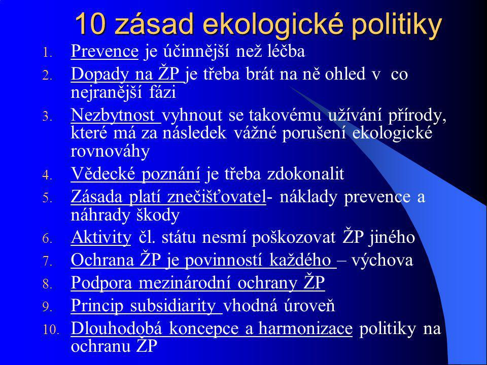 10 zásad ekologické politiky