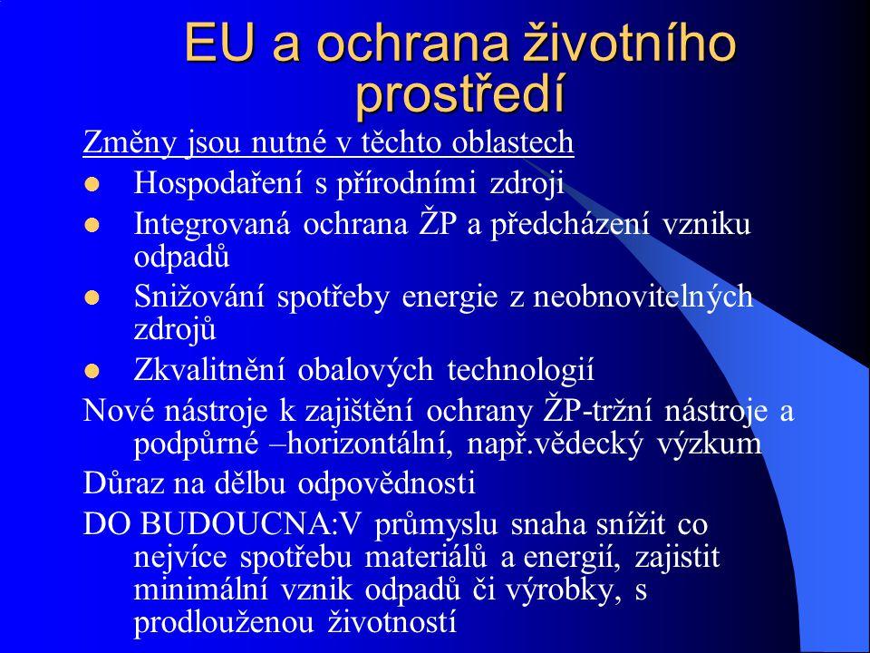 EU a ochrana životního prostředí