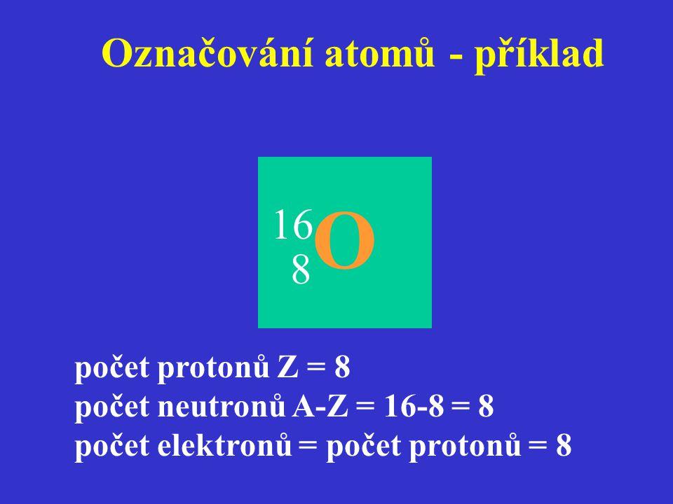 Označování atomů - příklad