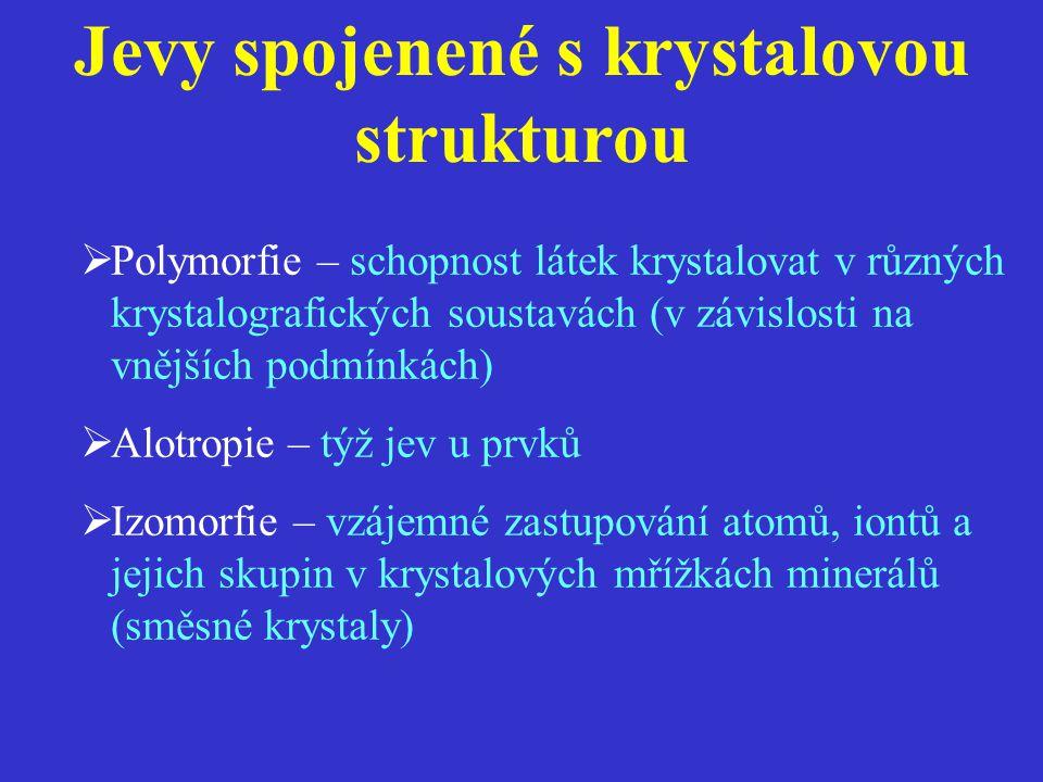Jevy spojenené s krystalovou strukturou