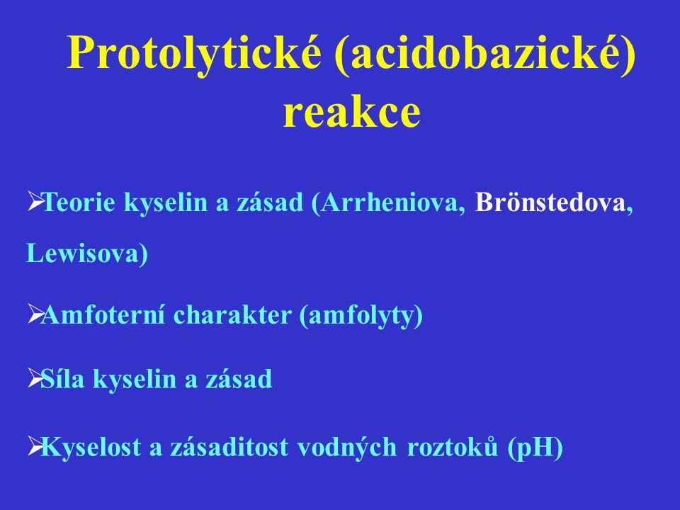 Protolytické (acidobazické) reakce