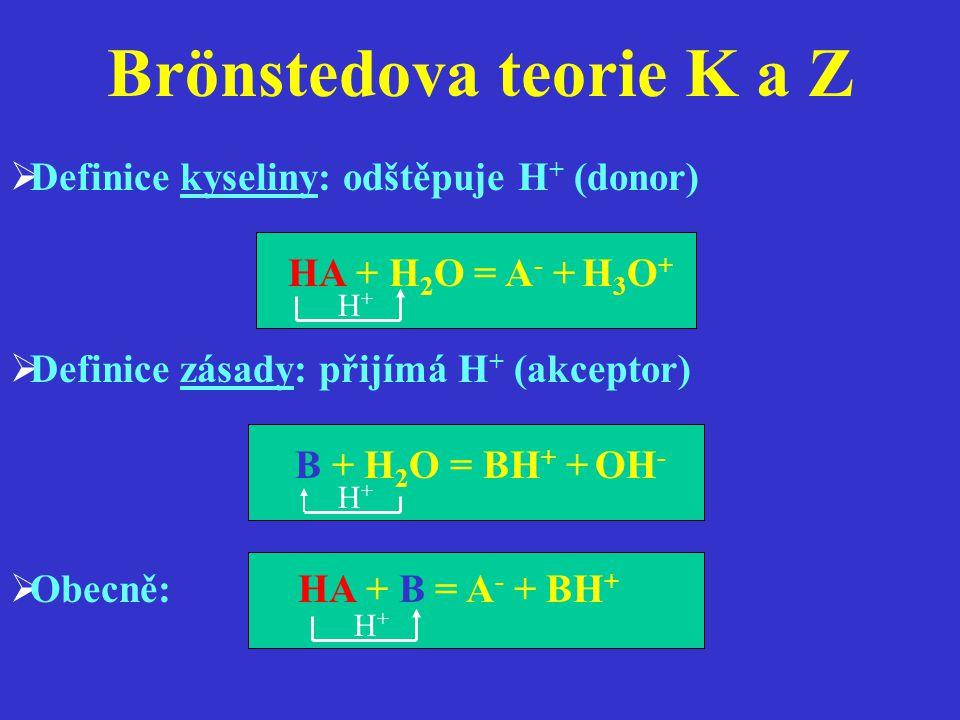 Brönstedova teorie K a Z