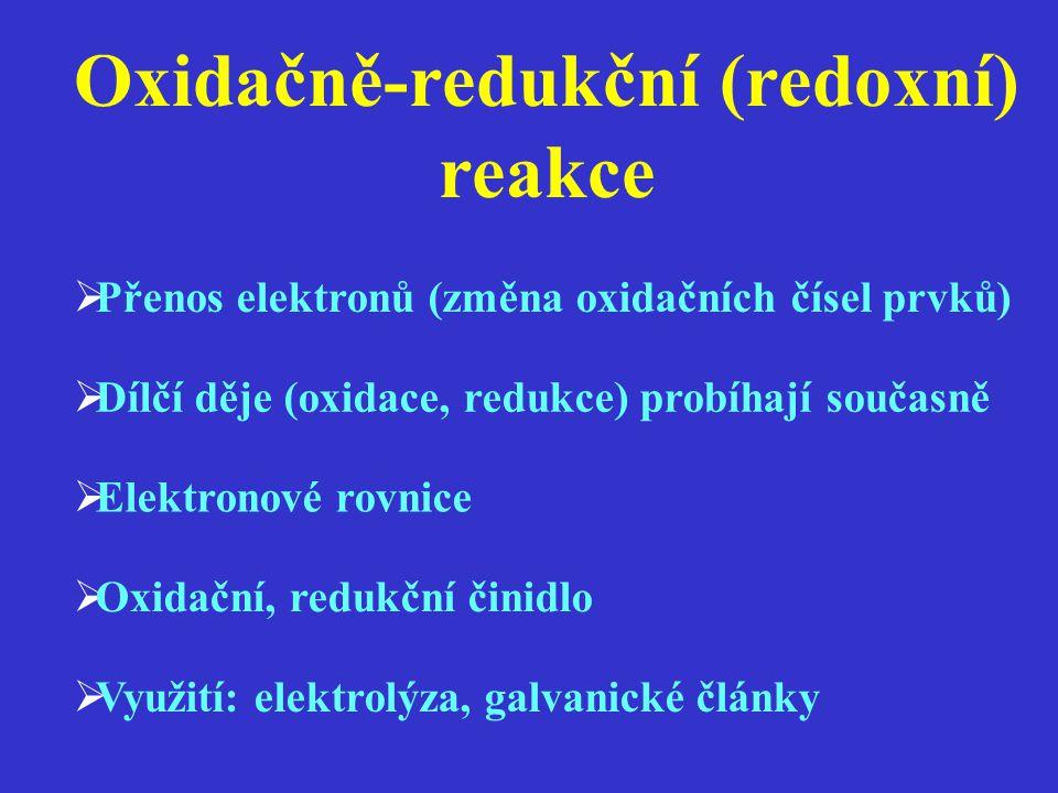 Oxidačně-redukční (redoxní) reakce