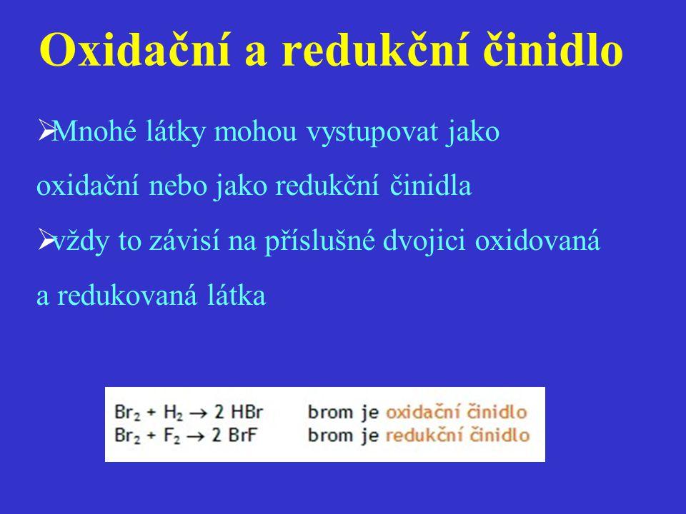 Oxidační a redukční činidlo