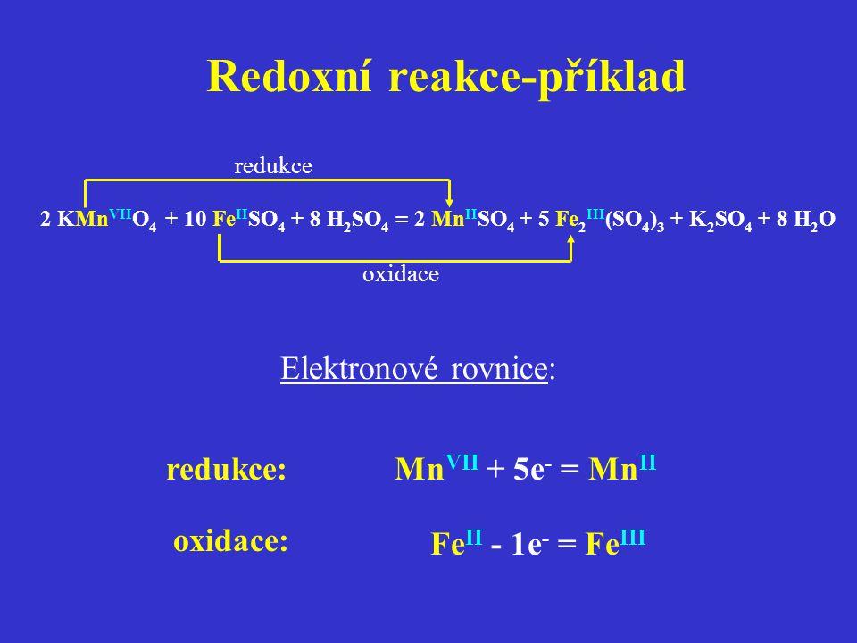 Redoxní reakce-příklad