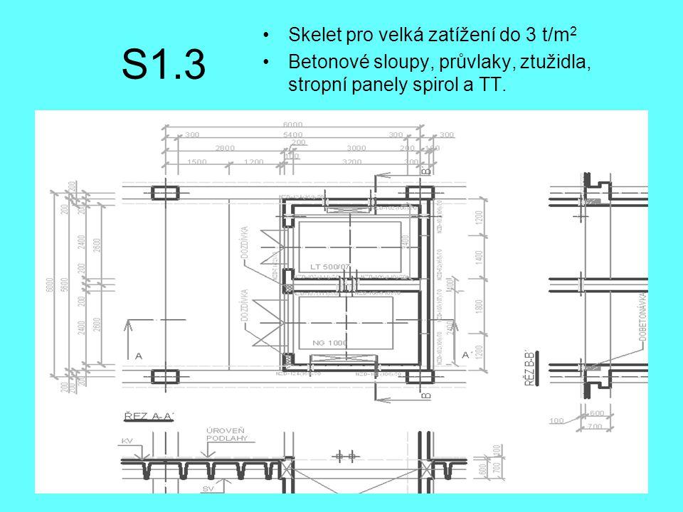 S1.3 Skelet pro velká zatížení do 3 t/m2