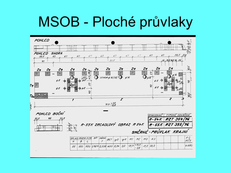 MSOB - Ploché průvlaky