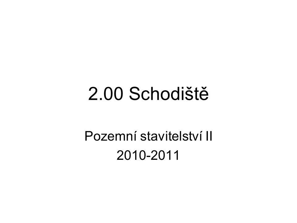 Pozemní stavitelství II 2010-2011
