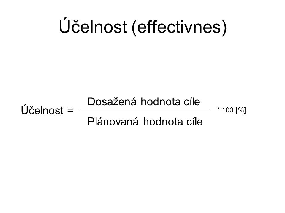 Účelnost (effectivnes)